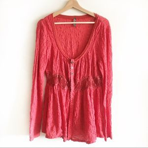 Free People Sheer panel top